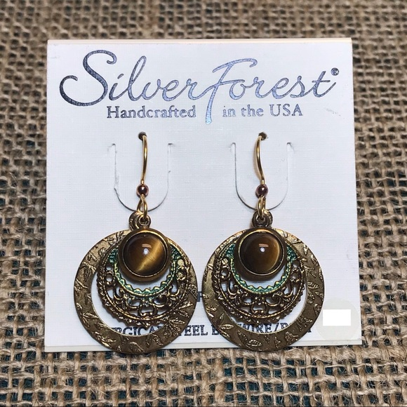 Silver Forest Jewelry - Silver Forest Tiger Eye Earrings